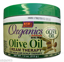 Africa's Best, Organics, Olive Oil Cream Dry Hair and Scalp Therapy 7.5 oz