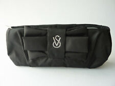 VICTORIA'S SECRET BLACK ELEGANT CLUTCH BAG WITH RHINESTONE ADORNMENT *BRAND NEW