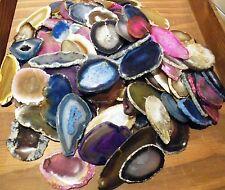 Achat Edelstein Scheiben  Brasilien gemischt 50 Stück ca 4-8 cm Durchmessers