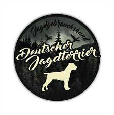 A_JGH Auto Aufkleber DEUTSCHER JAGDTERRIER Jagdhund Hund Hunde SIVIWONDER