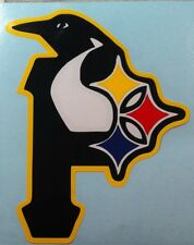 "(2)  12"" STEELERS, PIRATES, PENGUINS cornhole board decals"