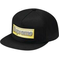 SUPREME Bling Logo 5 Panel Cap Black Box Logo camp floral safari camp S/S 12
