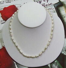 """Fresh Water Mobi Pearls With 14K GF Beads Necklace, 18"""". FWN09"""