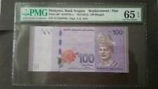 Malaysia 2012 100 Ringgit, ZC Replacement Banknotes, PMG65, #01