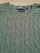 RALPH LAUREN POLO Men's Crewneck 100% ALPACA Large (L) CABLE KNIT Sweater