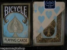 Dirty Aqua Creme 2 Deck Set +Vintage Case Bicycle Playing Cards Poker Size USPCC