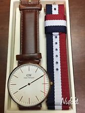 Daniel Wellington Men's St Andrews Brown Leather/Rose Gold Watch NEW