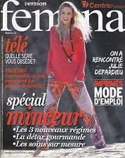 VERSION FEMINA MAGAZINE - SPECIAL MINCEUR - REVUE MAG MODE FEMME PEOPLE 2014 TBE