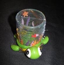 "NEW TURTLE SEA TURTLE PLASTIC CUP / TUMBLER WITH BASE ""MOVES"" ITS FINS"
