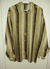 Vintage GIANNI VERSACE Classic V2 100% Silk Men's Shirt Large Greek Key Spain