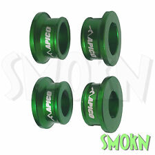 Apico Front & Rear Wheel Spacers Kawasaki KX 85 01-17 Green