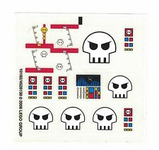 LEGO SPACE SKULLS STICKER SHEET ~ For Factory Series Set # 10192  Rare  NEW