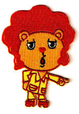 "2X3"" orange DISCO BEAR afro sideburn Happy Tree Friends  IRON ON SEW ON PATCH"