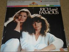 """RICH AND FAMOUS"" EXTENDED PLAY MGM/UA HOME VIDEO LASER VIDEODISC 1983"