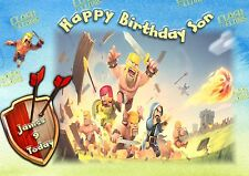clash of clans son personalised large a5 size grandson son boy Birthday card d