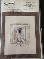 Charmin Counted Cross Kit Stitch Little Girl on the Potty Toddler Bathroom 8X10