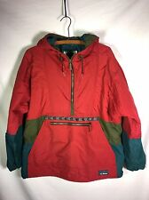 VTG LL Bean Anorak Thinsulate Insulated Jacket Women's M Aztec Coat Red Nice!!