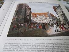 Hannover Archiv Stadtbild 4 Marktplatz 19. Jahrhundert 1834 WIEGMANN