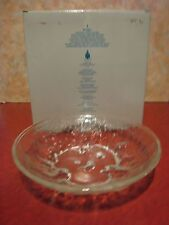 """PARTYLITE P7057 ICELAND 3 WICK HOLDER 10 1/4""""X 2 1/2"""" IN BOX HOLDS FLOATERS"""