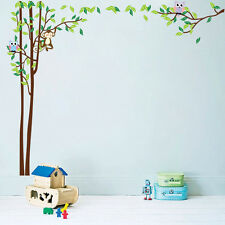 Huge Jungle Owl Monkey  Wall Decals Kids Bedroom Baby Nursery Stickers Art Room