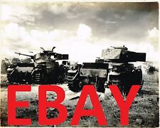 WWII HUGE 11X14 PHOTOGRAPH OF DESTROYED JAPANESE TANKS IN THE PACIFIC CLOSE UP