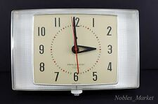 1950's MCM General Electric Telechron 2H105 Electric Kitchen Wall Clock Red Dot