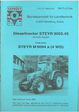 STEYR TRACTOR M 9094 a (4WD) TEST REPORT  - CASE2 *ORIGINAL*