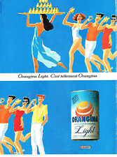 PUBLICITE ADVERTISING  1992   ORANGINA  boisson  soda