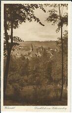 Ansichtskarte Wunsiedel - Ortsansicht vom Katharinenberg - schwarz/weiß