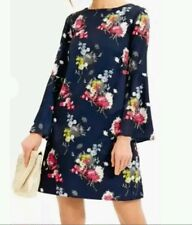 Beautiful floral print   Navy  Fluted Bell Sleeve Dress size 8 tall new with tag