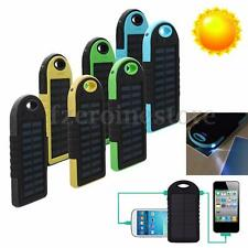 20000mAh Waterproof Solar Power Bank Dual USB Charger + LED Torch For iPhones