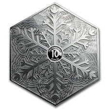 10 oz Silver Hexagon - Snowflake SKU #94239