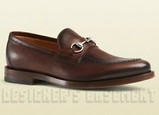 GUCCI men 7* brown PIERRE Brogue leather HORSEBIT Loafers shoes NIB Authent $850