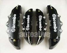Black Brembo Style Universal Disc Brake Caliper Covers 4pcs Front & Rear 3D