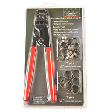 """Iwiss PEX Cinch Clamp Fastening Tool for 3/8""""- 1"""" with Stainless Steel Rings"""