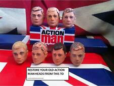 VINTAGE ACTION MAN ~ HEAD re-flocking ~ Vecchio capi re-flocked