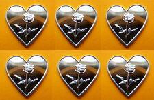 6 x 999 Silber Silberbarren Silver Herz mit Rose Super Geschenk Valentinstag