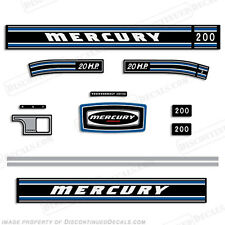 Mercury 1973 20hp Outboard Decal Kit - Discontinued Decal Reproductions in Stock