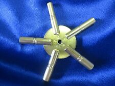 Universal Brass Clock Winding Key - Even Sizes 5 Prong Star - Made in USA