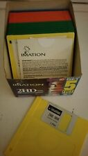 """NEW Genuine Imation 3.5"""" Floppy Disks 1.44 MB  DS/HD Open Box 15 Rainbow Colors"""