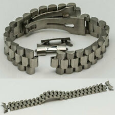 President 20mm solid links stainless steel curved ends watch bracelet strap new