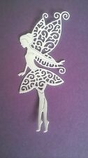 5 x FAIRY DIE CUTS TATTERED LACE  - WHITE TOPPER/ BIRTHDAY/ CARD/ SCRAPBOOKING