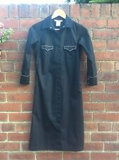 Stylish Black Shirt Dress With Studded Detailing By Chloe Size 36/8 VGC