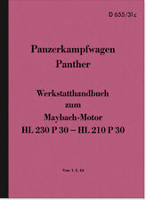 Maybach Panther reparación manual taller de mano libro HDV Wehrmacht tanques manual
