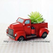 Resin Truck Cacti Succulent Plant Pot Flower Planter Mini Garden Design
