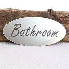Bathroom Door Plaque Fridge Plate Room Sign with Sticky Pads With Sticky Pads