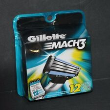 GILLETTE MACH 3 REFILL CARTRIDGES ( 12 CARTRIDGES) NEW