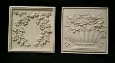 Vintage Hermitage Floral ~ Shabby Chic ~ French Cottage ~ Wall Plaques Pair