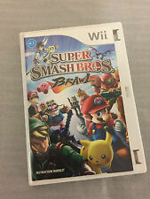 Super Smashbros Brawl Wii Nintendo Wii PAL with Manual COVER ARTWORK MISSING