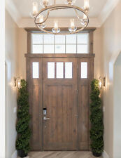 """36"""" x96""""KNOTTY ALDER DOUBLE 3 LITE ENTRY DOOR WITH SIDELITES"""